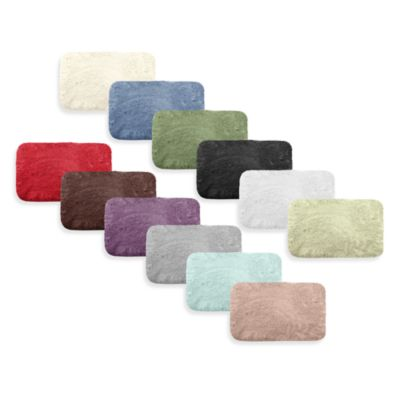 Microdry® Plush 17-Inch x 23-Inch Bath Rug with Memory Foam