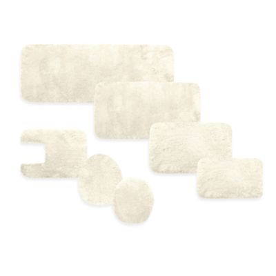 Microdry® 17-Inch x 23-Inch Plush Bath Rug with Memory Foam in Ivory