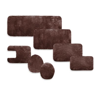 Microdry® Plush Bath Elongated Lid with Memory Foam in Chocolate