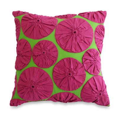 Nostalgia Home™ Yoyo Appliqué Square Toss Pillow
