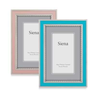 Wide Enamel Border 4-Inch x 6-Inch Picture Frame -Turquoise Blue