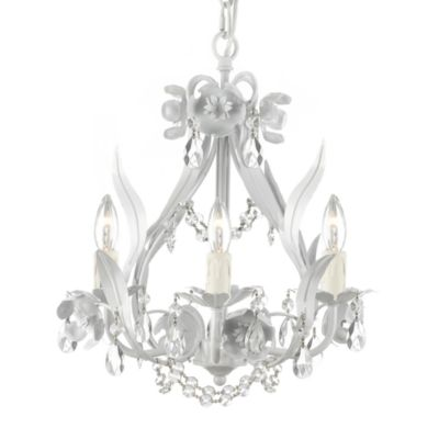 Floral Wrought Iron Chandelier