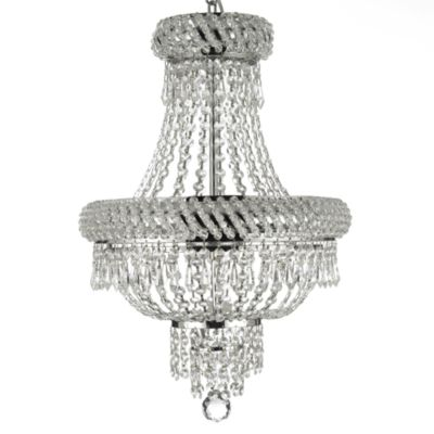 Gallery Empire 22-Inch Crystal 3-Light Chandelier