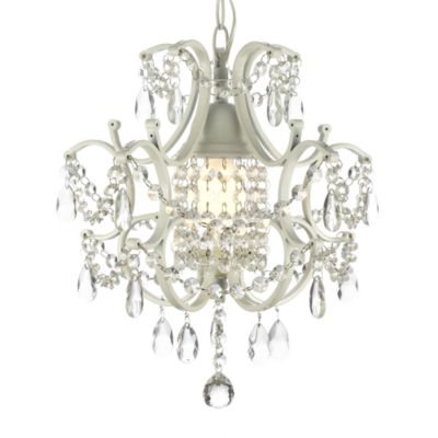 Wrought Iron and Crystal 1-Light Chandelier