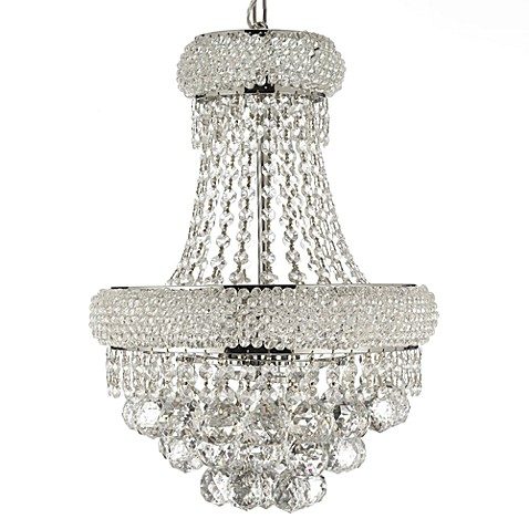 Gallery Empire 19-Inch Crystal 3-Light Chandelier