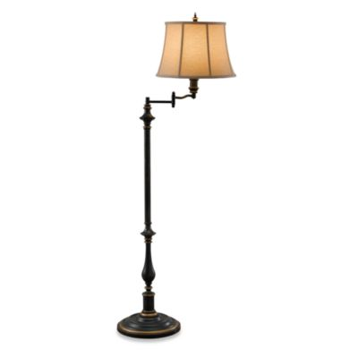 Feiss Maddalyn One Light Antique Brown Floor Lamp