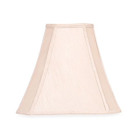 Mix & Match Large 15-Inch Shantung Cut Corner Lamp Shade in Taupe