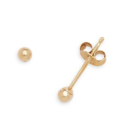 14K Yellow Gold Children's Ball Earrings