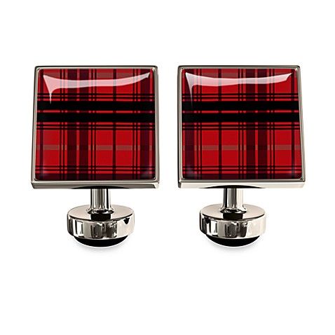 Wurkin Stiffs® Plaid Red Union Link Cufflinks