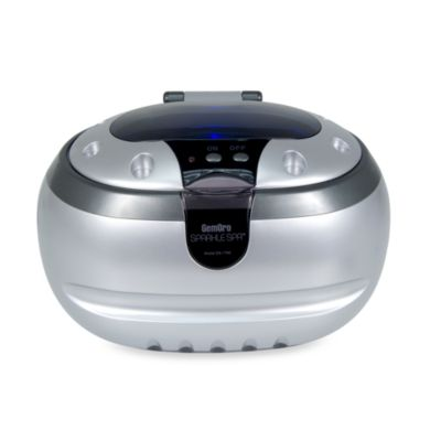 GemOro Sparkle Spa™ Personal Ultrasonic Jewelry Cleaner in Silver