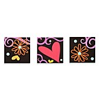 One Grace Place Sassy Shaylee 3-Piece Canvas Art