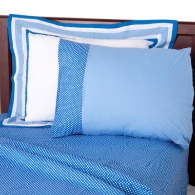 One Grace Place Blue Twin Sheet Set