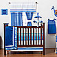 One Grace Place Simplicity 3-Piece Crib Bedding Set in Blue