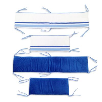 One Grace Place Simplicity Crib Bumper in Blue