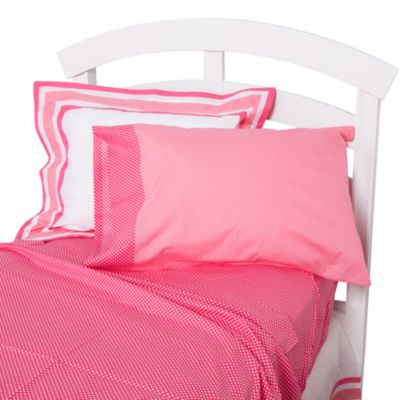 One Grace Place Simplicity Twin Sheet Set in Hot Pink