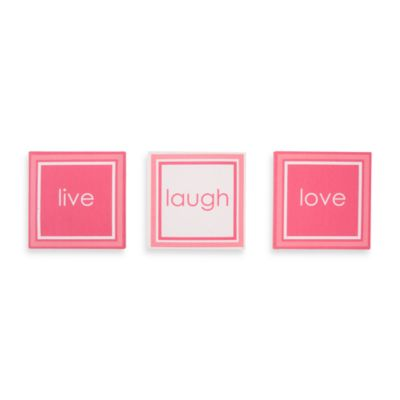 3-Piece Pink Canvas Art