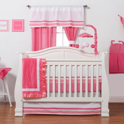 One Grace Place 3-Piece Pink Crib Set