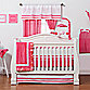 One Grace Place Simplicity Hot Pink Crib Bedding Set & Accessories
