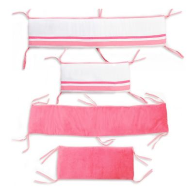 One Grace Place Simplicity Crib Bumper in Hot Pink
