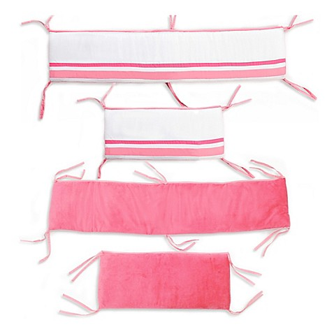 One Grace Place Simplicity Crib Bumper In Hot Pink Bed