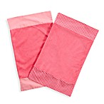 One Grace Place Simplicity 2-Piece Blanket Set in Hot Pink