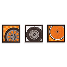 One Grace Place Teyo's Tires 3-Piece Canvas Art