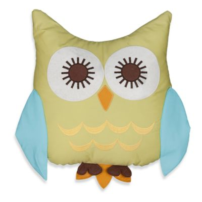 Lolli Living™ by Living Textiles Baby Pillow in Green Owl