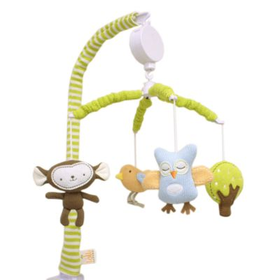 Crib Fashion Bedding > Lolli Living™ by Living Textiles Baby Musical Mobile Set in Monkey