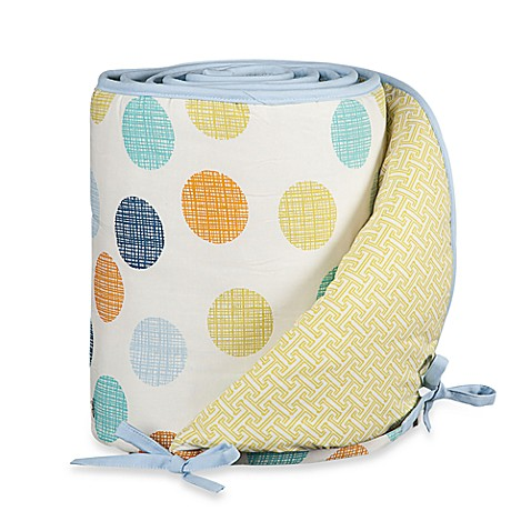 Bumpers > Lolli Living™ by Living Textiles Baby Crib Bumper in Bot Dot/Labyrinth Green