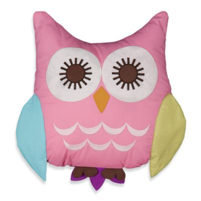 Lolli Living™ by Living Textiles Baby Mix & Match Poppy Seed Owl Pillow in Pink