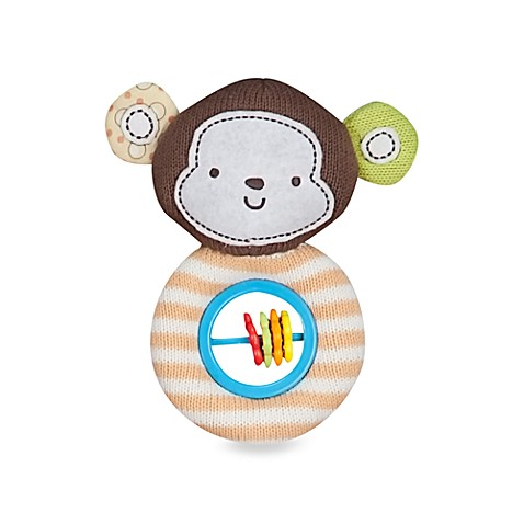 Lolli Living™ by Living Textiles Baby Rattle Toy in Coco Monkey