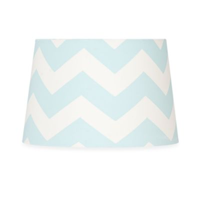 Lolli Living™ by Living Textiles Baby Bot Lamp Shade in Aqua Zig Zag
