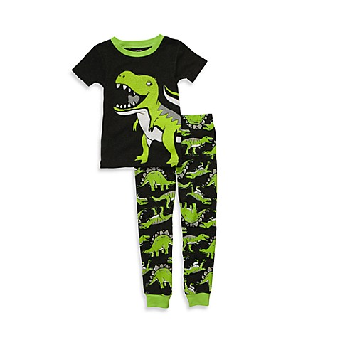 Carter's® Snug Fit Cotton Green Dino 2-Piece PJs - 12 Months
