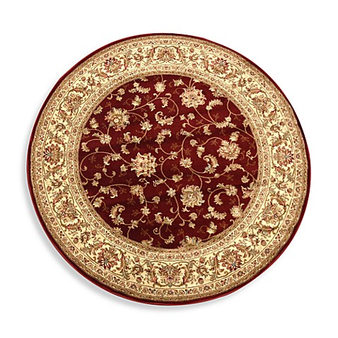 World Gallery Elite Isphahan 7-Foot 8-Inch Round Rug in Red