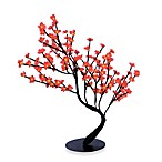Hi-Line Gift Ltd. 30-Inch Lighted Bonsai Tree with 128 Red LED Lights