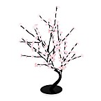 Hi-Line Gift Ltd. 30-Inch Lighted Bonsai Tree with 128 Pink LED Lights