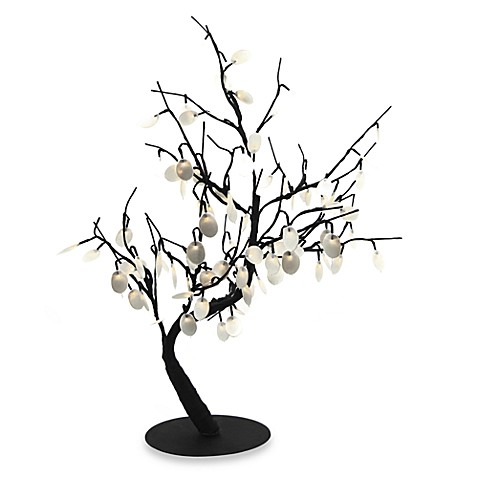 30-Inch Silver Dollar Bonsai Tree Pre-Lit with 96 White LED Lights