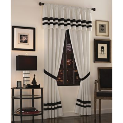 Luxe Hotel Black Window Valance