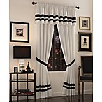 Luxe Hotel Black Window Treatment Set