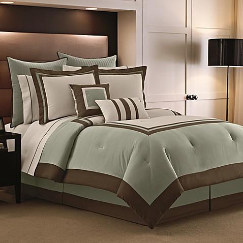 Luxe Hotel Sage 9 12 Piece Comforter Super Set Bed Bath