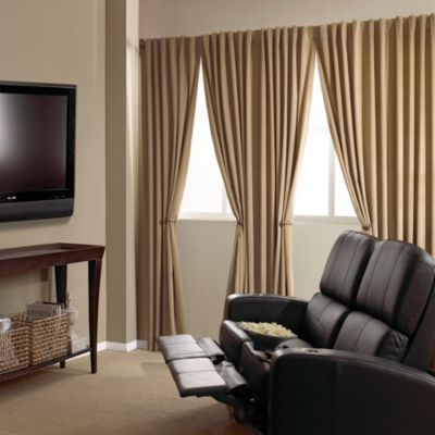Absolute Zero 84-Inch Velvet Blackout Home Theater Curtain Panel in Cafe