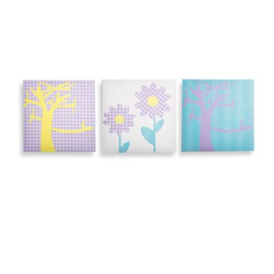 Modern Littles Sweets Pretty Nature Canvas Print (Set of 3)