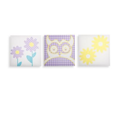 Modern Littles Sweets Pretty Nature & Owl Canvas Prints (Set of 3)