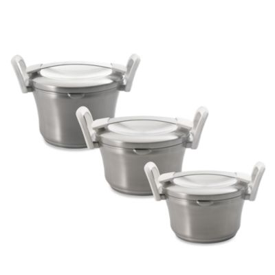 BergHOFF® Auriga 3.1-Quart Covered Casseroles in Stainless Steel