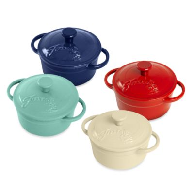 Fiesta® 0.35-Quart Cast Iron Covered Mini-Casseroles
