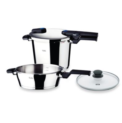 Fissler Vitaquick Quattro 8.5 qt. Pressure Cooker and 4.2 qt. Pressure Skillet Set with Glass Lid