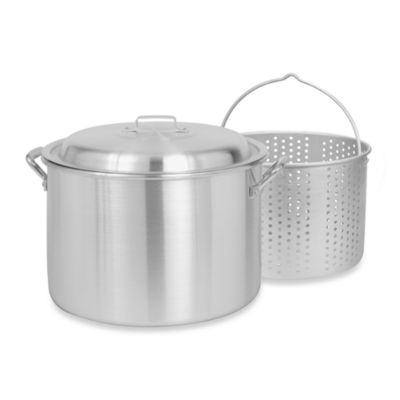 Bayou Classic® 20-Quart Aluminum Stock Pot with Basket and Vented Lid