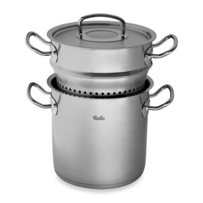 Fissler Original Pro Collection Multi-Star 6.3-Quart Covered Stockpot with Steamer Insert