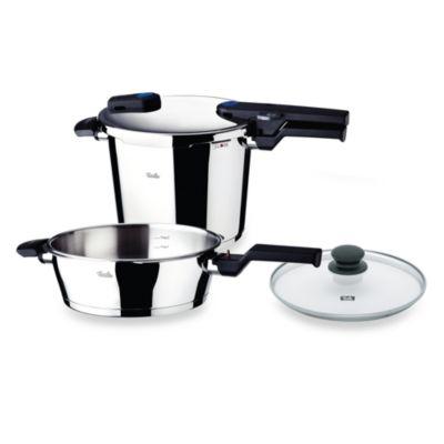 Fissler Vitaquick Quattro 6.4-Quart Pressure Cooker Set