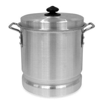 Bayou Classic® 12-Quart Aluminum Tamale Pot with Steam Rack and Lid